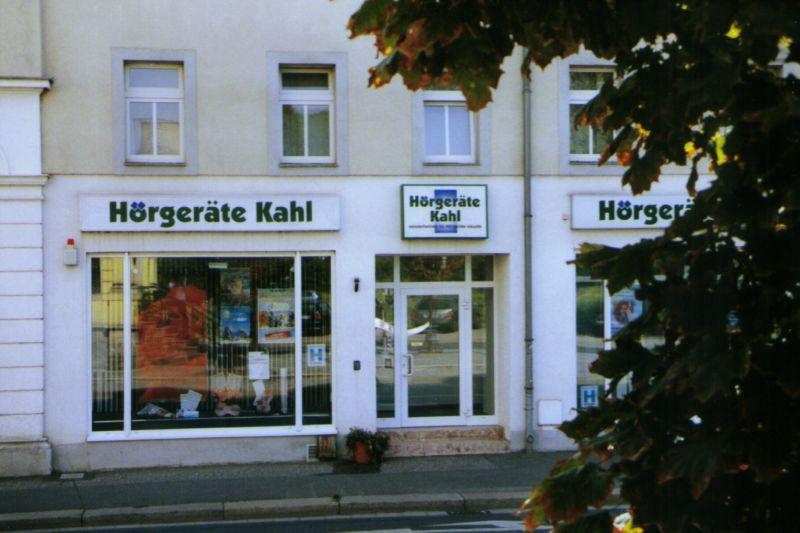 Aussenansicht der Filiale von Hörgeräte Kahl in Freital