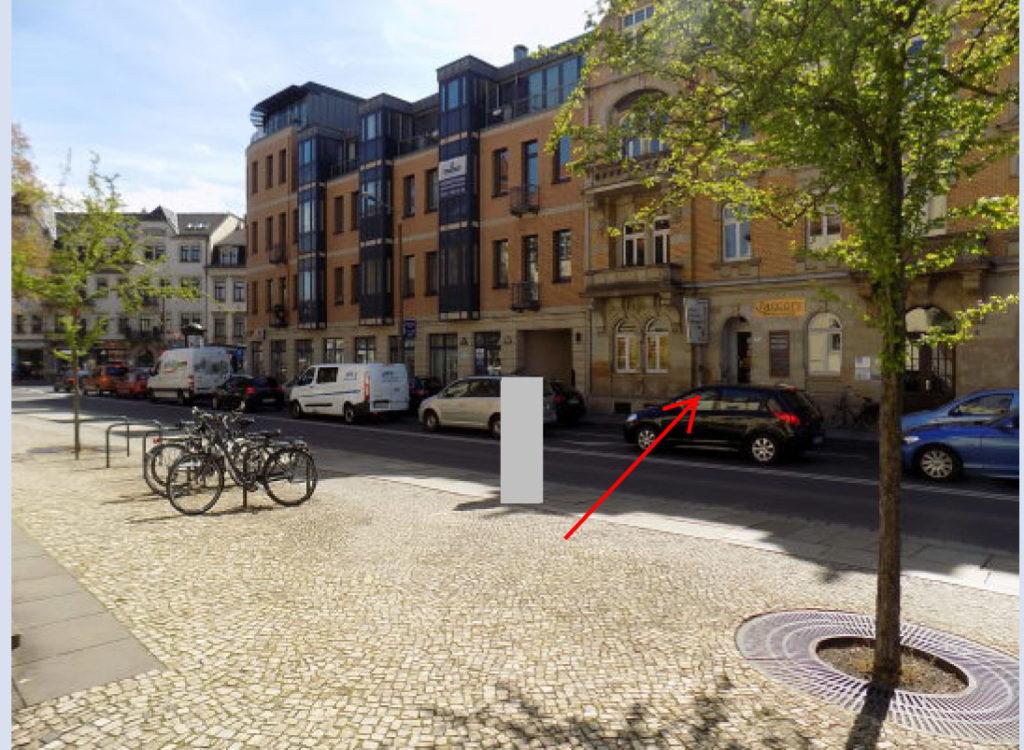 Aussenansicht von Hörgeräte Kahl auf der Naumannstraße in Dresden Blasewitz